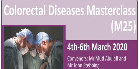 Colorectal Diseases Masterclass 20th Anniversary (M25) 2020 tickets