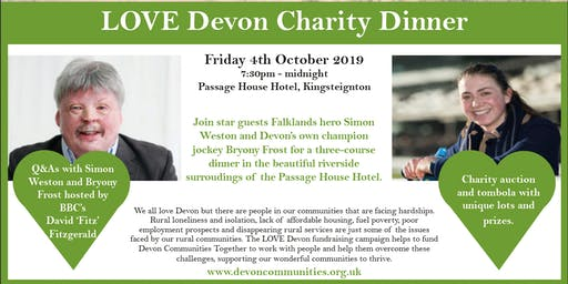 Falklands hero Simon Weston and champion jockey Bryony Frost Charity Dinner