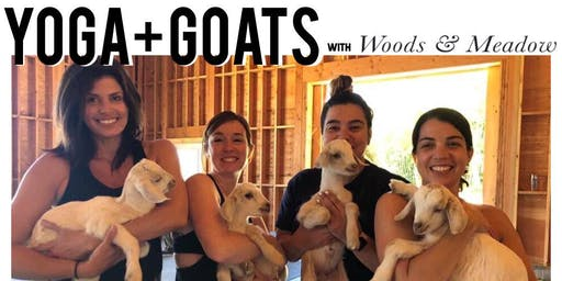 Yoga + Goats with Woods & Meadow