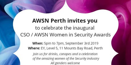 CSO / AWSN Inaugural Women in Security Awards Perth Celebration tickets