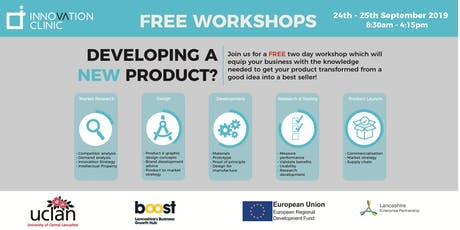 Developing a New Product by UCLan Innovation Clinic - Free Workshops tickets