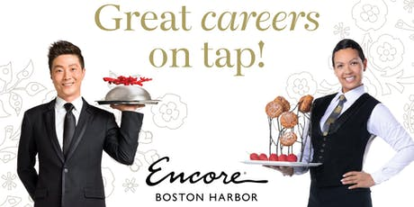 "15 Restaurants & Cocktail Lounge "" Hiring Event"" for Encore Boston Harbor at Harpoon Boston August 20th, 2019 tickets"