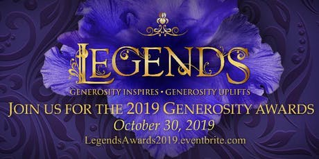 Legends: The Hospice of St. Francis Generosity Awards 2019 tickets