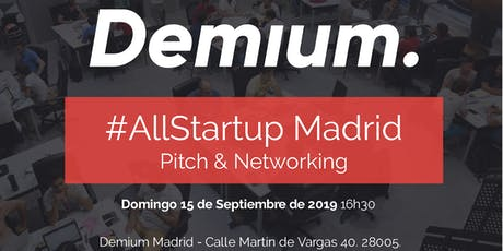 Pitch & Network #AllStartup Madrid entradas