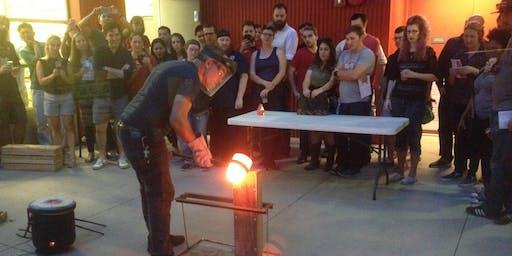 Bronze Age Sword Casting class: Montevallo, AL