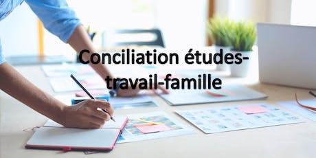Conciliation études-travail-famille billets