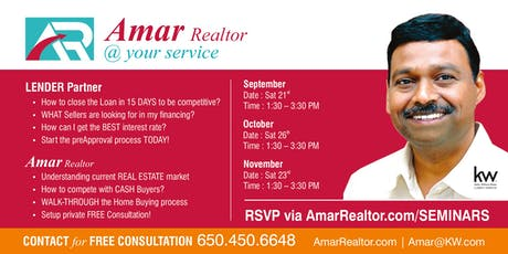 Amar Realtor®: FREE HOME BUYERS SEMINAR tickets