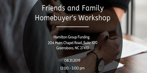 Friends and Family Homebuyer's Workshop