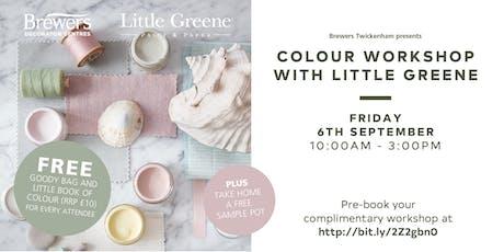 Little Greene Colour Workshops at Brewers Twickenham tickets