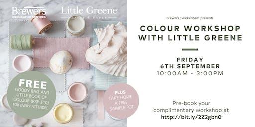 Little Greene Colour Workshops at Brewers Twickenham