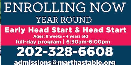 Martha's Table Pre-Enrollment Fair: Early Head Start and Head Start tickets