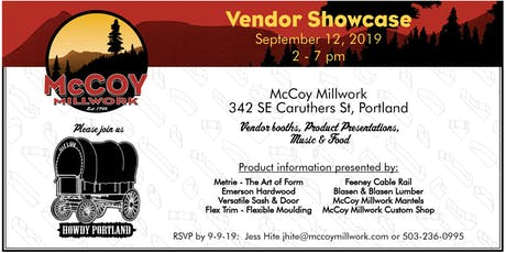 3rd Annual McCoy Millwork Vendor Showcase tickets