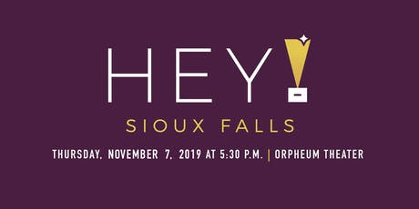 Hey Sioux Falls 2019 tickets