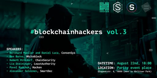 #blockchainhackers vol.3