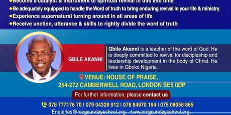 RCCG, Sunday School UK & Europe Annual National Conference 2019 tickets