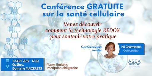 Conférence gratuite - La biotechnologie REDOX et la santé cellulaire.