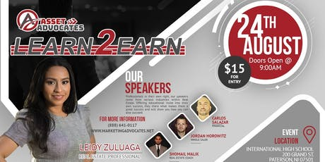Register for The Learn 2 Earn Workshop - Real Estate Training at its Finest tickets