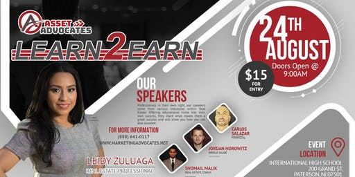 Register for The Learn 2 Earn Workshop - Real Estate Training at its Finest