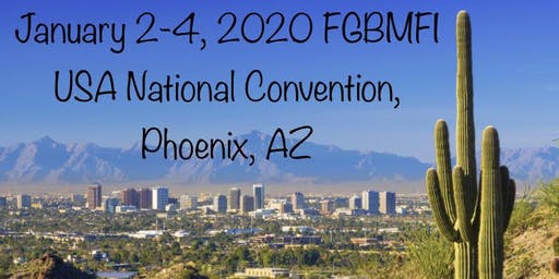 2020 FGBMFI USA National Convention January 2-4, Phoenix, AZ