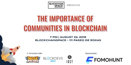 The Importance of Communities in Blockchain tickets