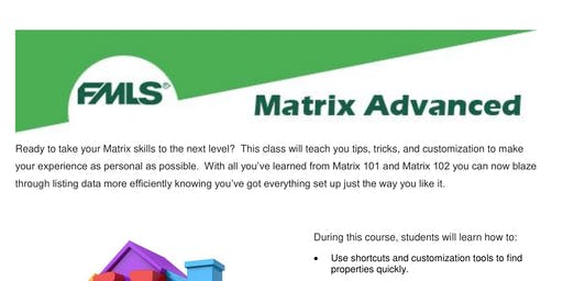 3 HR Real Estate CE 'Matrix Advanced' with FMLS - FREE