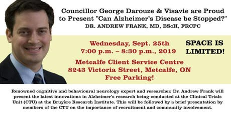 Can Alzheimer's Disease Be Stopped? tickets