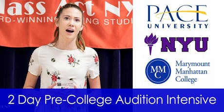 2 Day Pre-College Audition Intensive Session 2 tickets