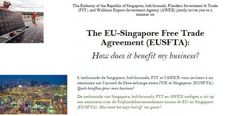 The EU-Singapore Free Trade Agreement: How does it benefit my business? tickets