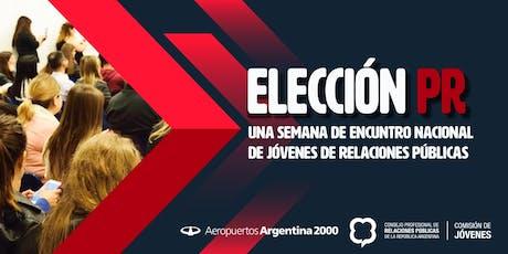 """36 Encuentro Nacional de Jóvenes de Relaciones Públicas """"Elecciones PR"""" entradas"""