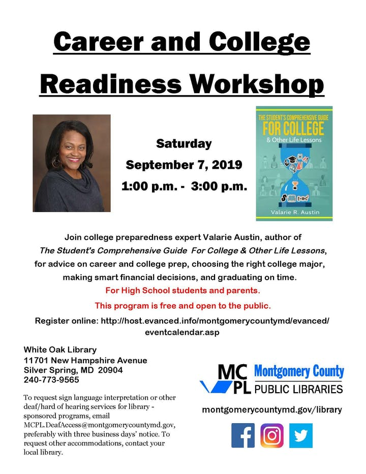 Career & College Readiness Workshop @ White Oak Library