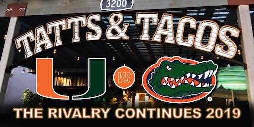 UM at Gators  Game-Watching Party at Tatts & Tacos