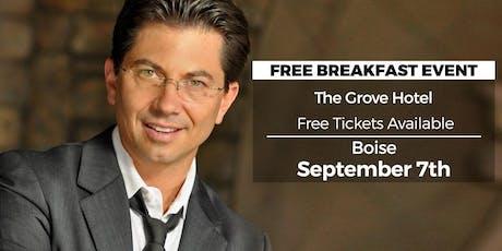 (FREE) Millionaire Success Habits revealed in Boise by Dean Graziosi tickets