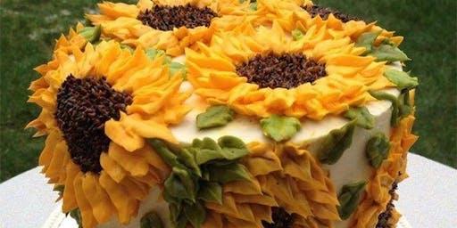 Sunflower cake class
