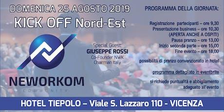 KICK OFF Area Nordest - Presentazione Business e Formazione - VICENZA biglietti