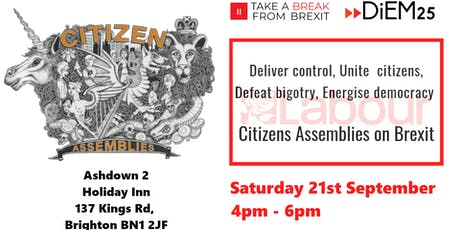 Deliver control, Unite the citizens, Defeat bigotry, Energise democracy tickets