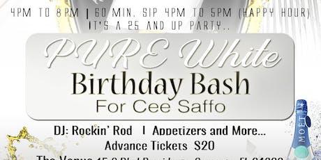 P.U.R.E. White Day Party/Birthday Bash for Cee Saffo tickets