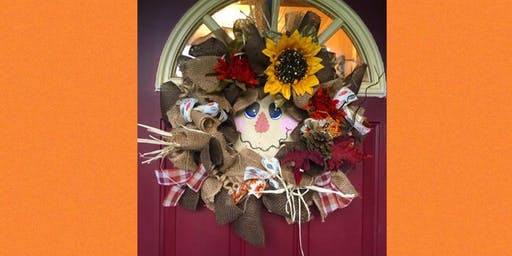 Scarecrow Wreath Making Workshop and Dinner-Pop Shop Collingswood