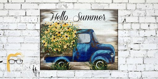 Truck & Flowers - Lauren's Art Club - Benefits West Volusia Humane Society