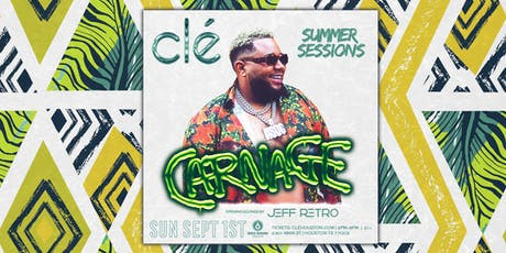 Carnage / Sunday September 1st / Clé Summer Sessions tickets