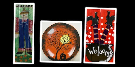 "Adult Open Paint (18yrs+) ""Create Your Own Wood Fun Autumn Designs"" tickets"