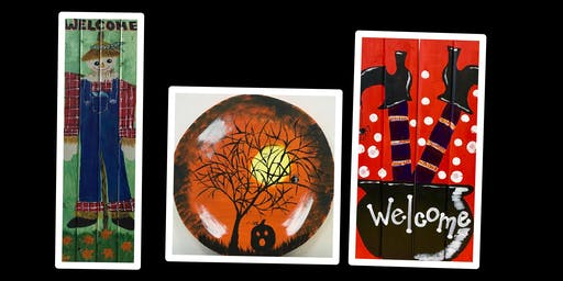 """Adult Open Paint (18yrs+) """"Create Your Own Wood Fun Autumn Designs"""""""