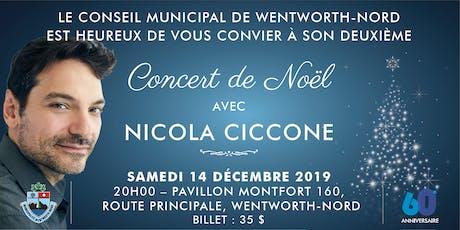 Concert de Noël avec NICOLA CICCONE billets