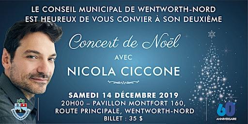 Concert de Noël avec NICOLA CICCONE