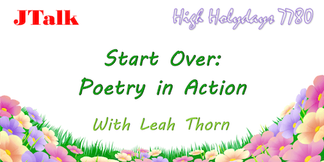 JTalk: 'Starting Over: Poetry in Action' with Leah Thorn tickets