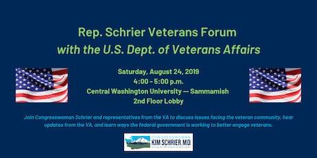 Rep. Schrier Veterans Forum with the U.S. Department of Veterans Affairs tickets