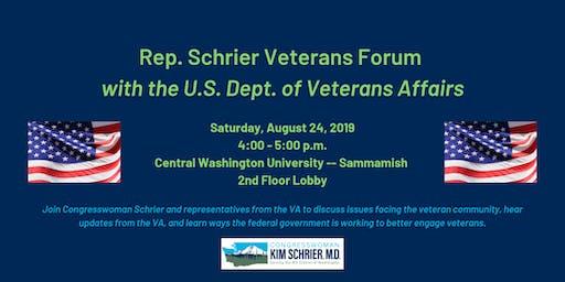 Rep. Schrier Veterans Forum with the U.S. Department of Veterans Affairs