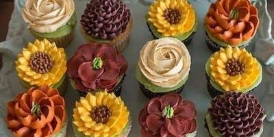 Fall flower cupcakes class