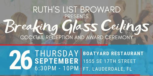Breaking Glass Ceilings: Ruth's List Broward Cocktail Gala & Award Ceremony