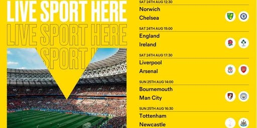 Sport at the Albany - Premier League & Rugby World Cup