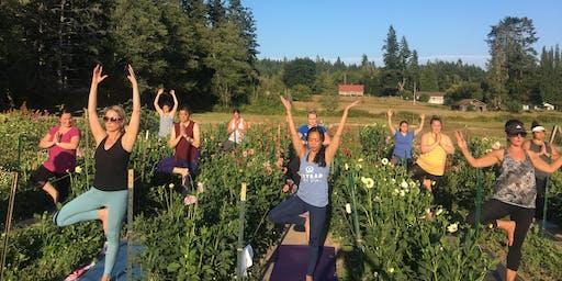 Yoga in the Flower Farm